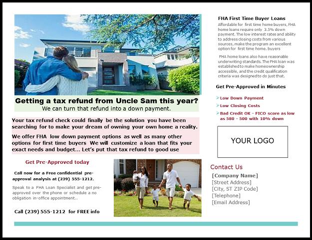 FHA & VA Marketing Brochures